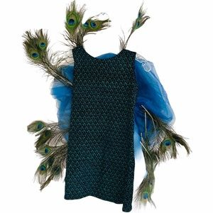 Chasing Fireflies Peacock Costume Dress Size 8
